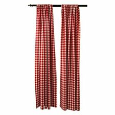 New Creations Fabric & Foam Inc, Buffalo Gingham Checkered backdrop Drape 1 Pair