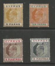 CYPRUS SG60,61,68&70 EVII 1904-10 FRESH MOUNTED MINT CAT £112