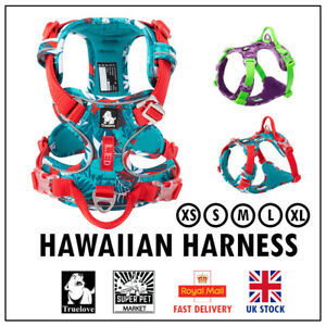 Truelove® Special Hawaiian Easy on-off No-pull Harness XS, S, M, L, XL Floral