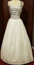 vintage gunny sack Southern Belle Princess gown cosplay 25 inch waist