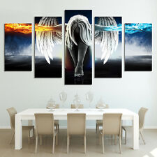 Pentaptych Style Painting Canvas Wall Art Picture Unframed Angel Patterns Decor