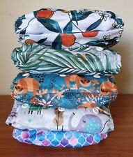 1 x ICLOTHUP Baby One Size Double Gusset Pocket Cloth Nappy Shell
