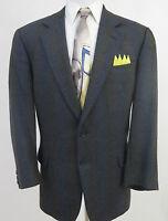 Ermenegildo Zegna Soft Men's Wool Geometric Blazer Jacket Sport Coat 44/46 R