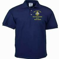 USS TUSCALOOSA  CA-37  CRUISER NAVY EMBROIDERED LIGHT WEIGHT POLO SHIRT