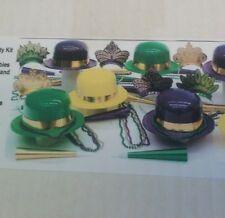 FESTIVE PARTY/EVENT KIT BEADS/HATS/TIARAS/MARDI GRAS (ASSORTMENT FOR 10 PEOPLE)