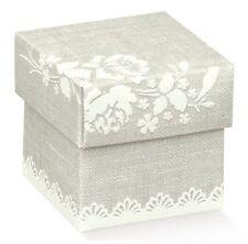 10 Scatole Bomboniera Confezione Porta Matrimonio Confetti Compleanno Nascita