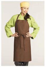 "Bib Apron, 2 Pockets, Pencil Pocket, Color: Brown, Size: 30"" W x 34"" L - 3004"