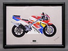 [illustration] HONDA NSR250R illustration with frame Japan NSR 2