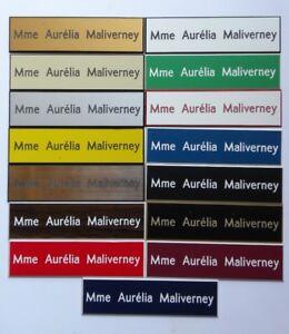 Plaque de boite aux lettres 1 à 3 lignes 10x2.5 cm  15 couleurs au choix