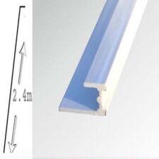 2 X Shower Wall Panels White Base Trim  10mm X 2400 long WET WALL