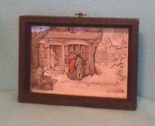 Vintage Anton Pieck 'Curiosity Shop' 3 D Print in Shadowbox Frame