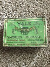 VINTAGE YALE MIXTURE SMOKING TOBACCO TIN  - MARBURG BROS. BALTIMORE MD USA