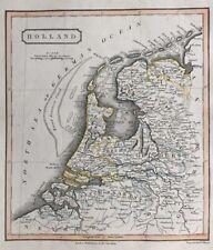 1828 Antique Map; Holland - L. Hebert