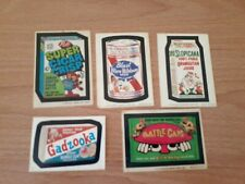 VTG 1970s LOT 5 Wacky Packages Packs Topps Chewing Gum Cards
