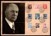 1945 Czechoslovakia interesting postal history cover Praha CDS WS11723(L)