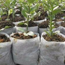 100*Plant Fiber Nursery Pots Seedling Raising Bags Plant Farm Garden Supplies