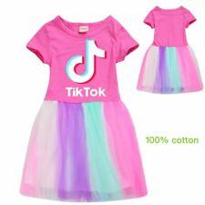 2020 TikTok Summer Home Tops Dress Clothing Baby Kids Girls Birthday Lovely Gift
