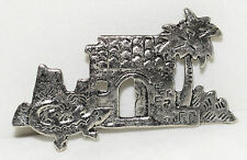Palm Tree & Lizard in Front Yard Vintage Southwestern Design House Silver Pin w/