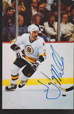Jay Miller Signed Boston Bruins Postcard