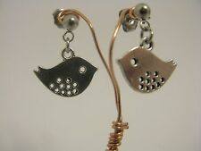 Bird Stainless Steel Stud Drop Dangle Earrings