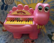 Pianosaurus Vintage Kids Childrens Toy Piano 1977 Lanard Pink Rare Working
