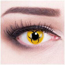 "Coloured Contact Lenses ""Biohazard"" Contacts Carnival inklusive + Free Case"