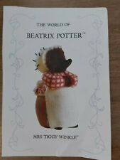 Alan Dart Beatrix Potter Mrs Tiggy-Winkle Toy Knitting Pattern