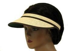 Women's straw sun visor
