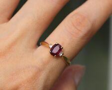 Baden & Foss B&F 14K Yellow Gold Natural Ruby & Diamond Women's Ring  Size 7.75
