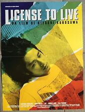 Affiche LICENSE TO LIVE Kiyoshi Kurosawa HIDETOSHI NISHIJIMA 40x60cm *