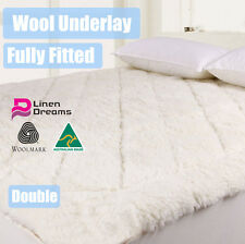 AUS MADE FULLY FITTED WOOL UNDERLAY/UNDERBLANKET-DOUBLE