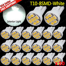 20x Pure White T10 8SMD LED Interior License Dome Light Bulb W5W 194 158 2825
