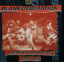 CD BLANK GENERATION - the New York scene 1975 - 78