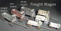 FREIGHT WAGON HO Scale Model Railroad Unpainted Wood Laser Kit GMFRH