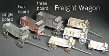 FREIGHT WAGON HO Scale Model Railroad Unptd Wood Laser Kit GMFRH