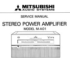 """ Mitsubishi Stereo Amplifier M-A01 Service Manual"