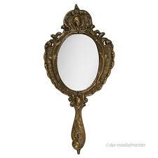 Barock Handspiegel Schminkspiegel Frisierspiegel Antik Makeup Spiegel Messing