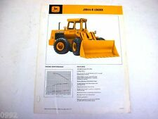 John Deere 644B Wheel Loader Sales Brochure !