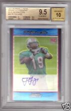 BGS 9.5 07 Bowman Chrome BLUE REFR AUTO Ted Ginn RC /75