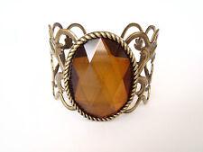 Women's Accessories Brass Bracelet Cuff Vine Leaf Filigree Designs Gem Detail