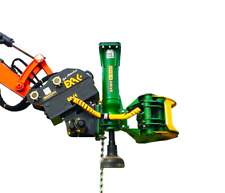 Grab-n-Drive post driver attachment model GD40S with log grapple - post grapple