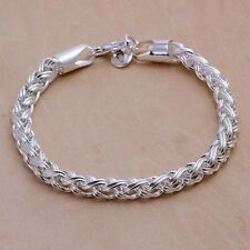 Damenarmband Kordel Schmuck 20cm Damen Armband / Kette pl. mit  Sterlingsilber