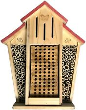 Bambeco Mason Native Bee Barn House Nursery Butterfly Shelter Solid Pine Bamboo