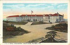 c.1920 FEC Hotel Casa Marina South Shore Key West FL post card