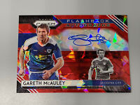 Gareth McAuley 2020-21 Panini Prizm ⚽️ Premier League Red Ice Flashback Auto