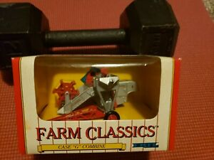 "NIB 1991 ERTL FARM CLASSICS #2622 CASE ""G"" COMBINE DIE-CAST 1:43 SCALE"