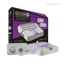 RetroN 2 2in1 Super Nintnedo SNES & NES Retro Video Game Twin Console - Grey