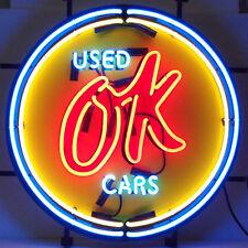 Chevrolet  Vintage Ok Used Cars Neon Sign 5CHVOK - Man Cave Garage Wall Art New
