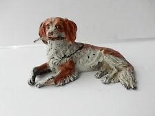 Austrian Bronze Spaniel Dog Inkwell Vienna Cold Painted Bergman