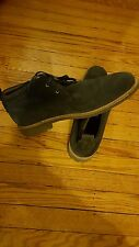 NAVY BLUE DESERT CHUKKA BOOTS SIZE 11.5 LACE UP BY BLACK AND BROWN PRE-OWNED